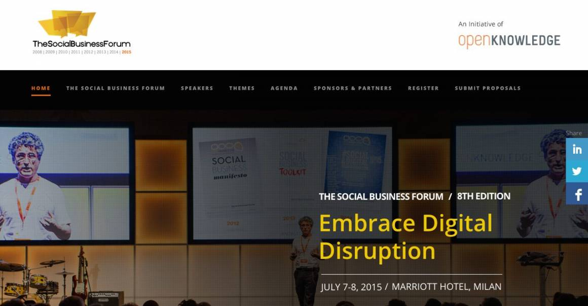 cover assodigitale 1160x603 - È online l'Agenda del Social Business Forum 2015!
