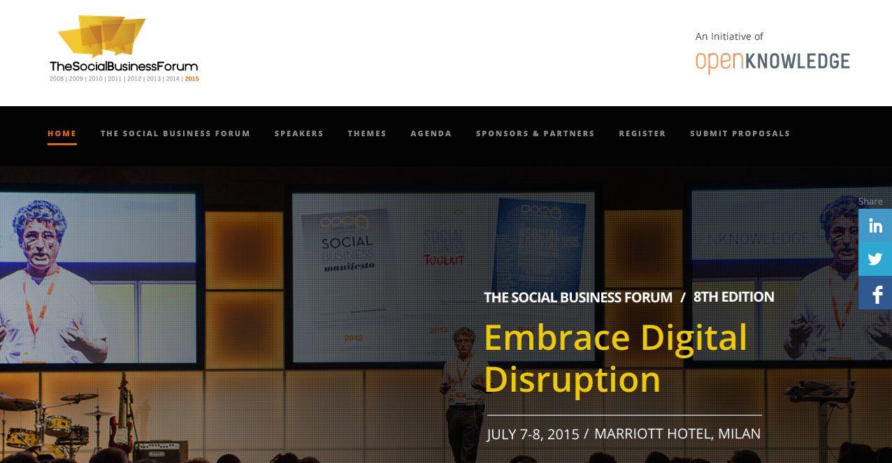 cover assodigitale - È online l'Agenda del Social Business Forum 2015!