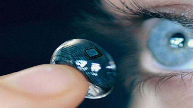 lenti a contatto che scansionano l'iride di Google