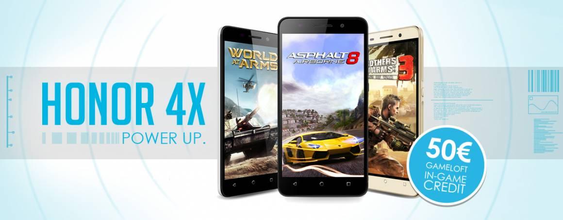 honor4x gameloft €1 1160x453 - Honor collabora con Gameloft per offrire agli utenti di Honor 4X un'esperienza gaming coinvolgente