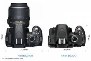 Nikon-D3100-vs-Nikon-D3200-top-view-size-comparison