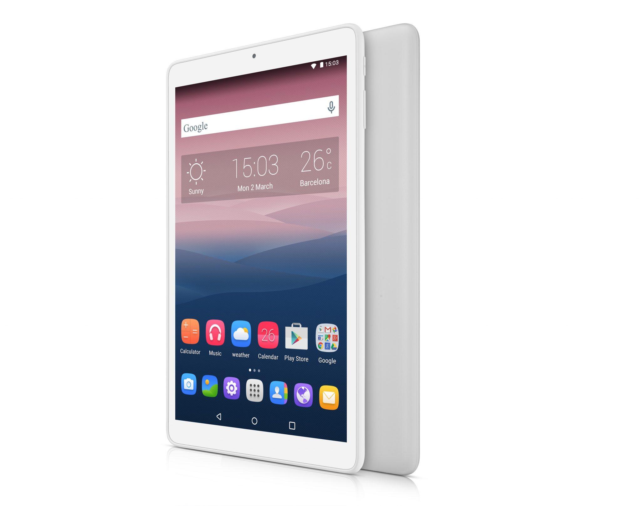 "PIXI 3 10 WHITE front and back angled right portrait1 - ALCATEL ONETOUCH presenta il tablet PIXI 3 da 10"""