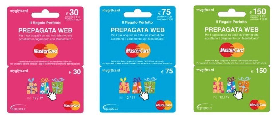 acquisti online con carta regalo mastercard