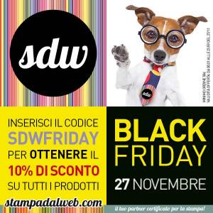 stampadalweb black friday 600 1 300x300 - 10% di Sconto per il Black Friday