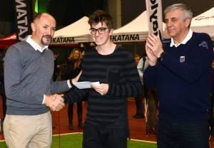 20160228 IGS Marco Bucarelli premiato da Nicola Pomponi e Stefano Frigeri Gianni Luni 300x208 - Italian Golf Show: i vincitori delle gare