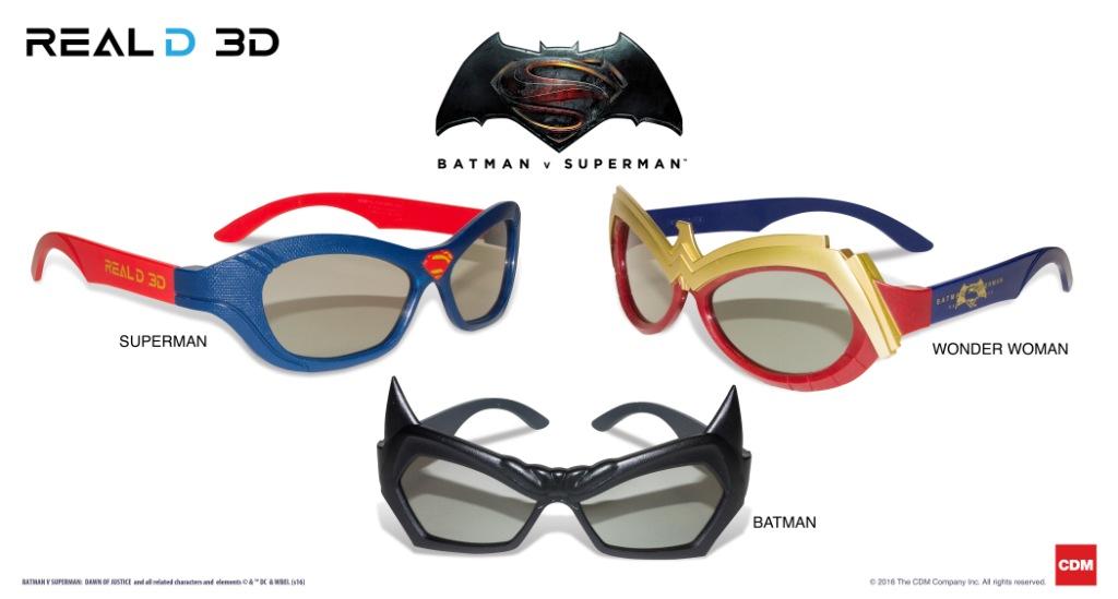 Gli occhiali 3D piu belli Occhiali Batman vs Superman - Gli occhiali 3D più belli: arrivano i modelli speciali Batman vs Superman