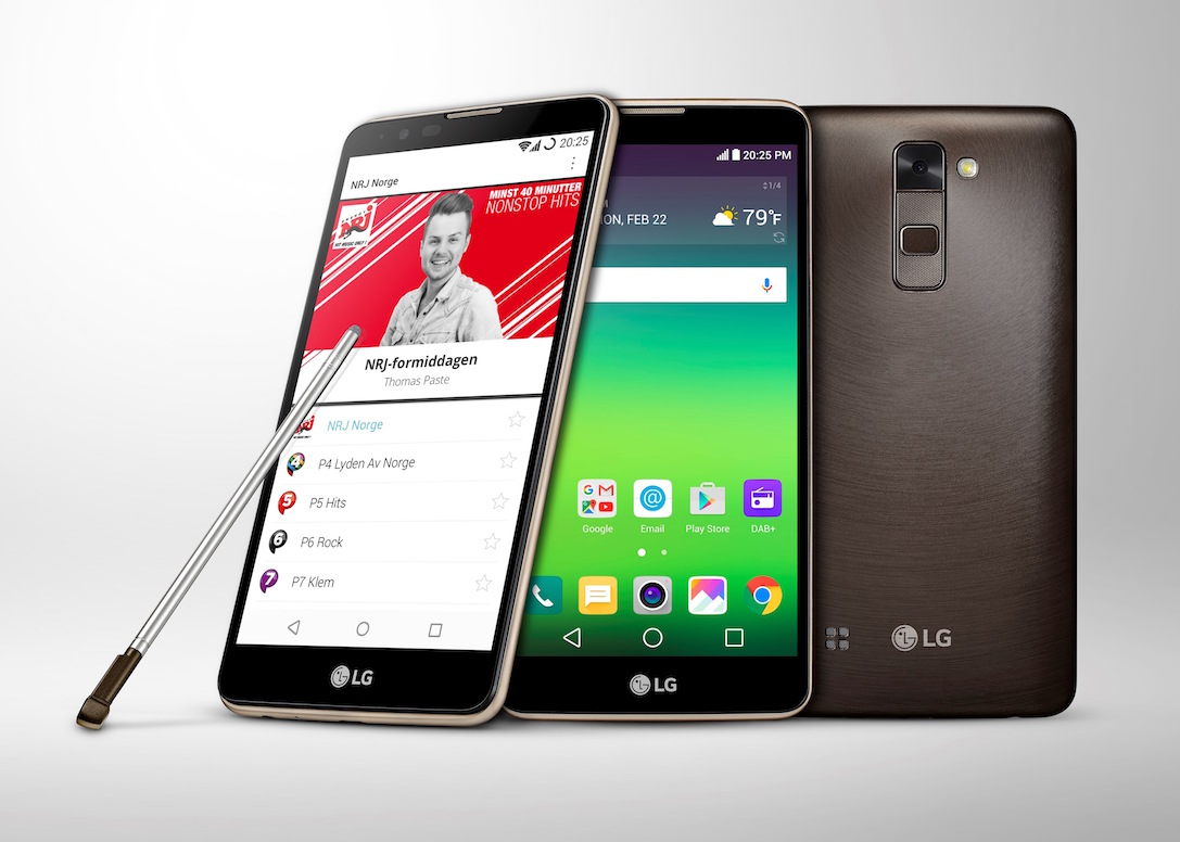 LG Stylus DAB - Primo smartphone con radio Digitale arriva LG Stylus DAB+
