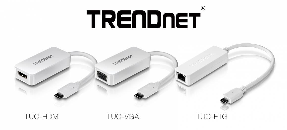 TRENDnet adattatori USB C 1160x527 - Nuovi adattatori USB-C da Trendnet