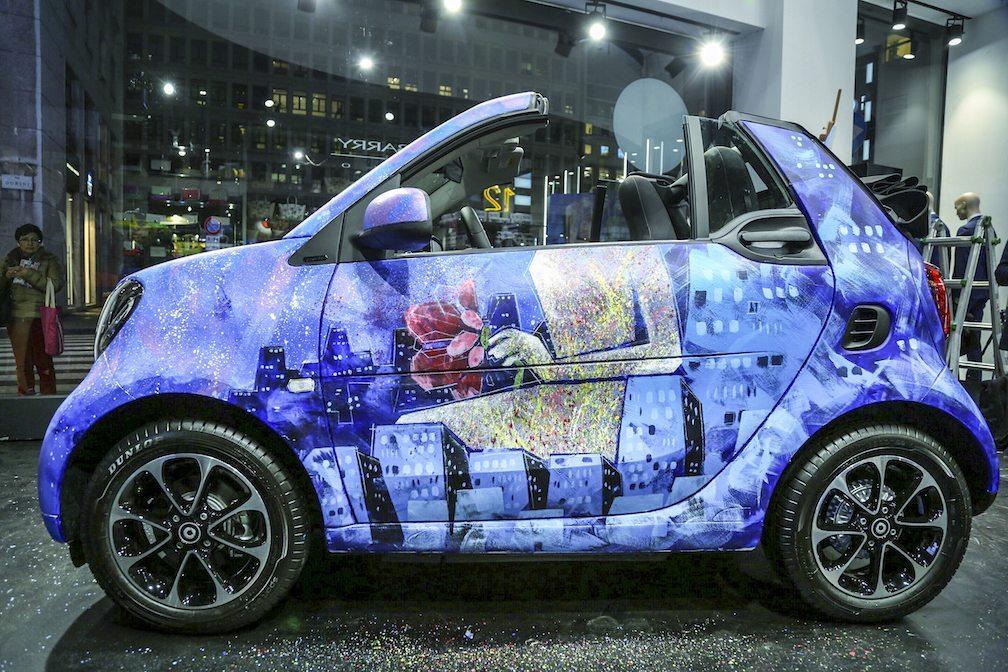 smartFORpeace arte viaggia in smart - #smartFORpeace con autoRitratti l'arte viaggia in smart