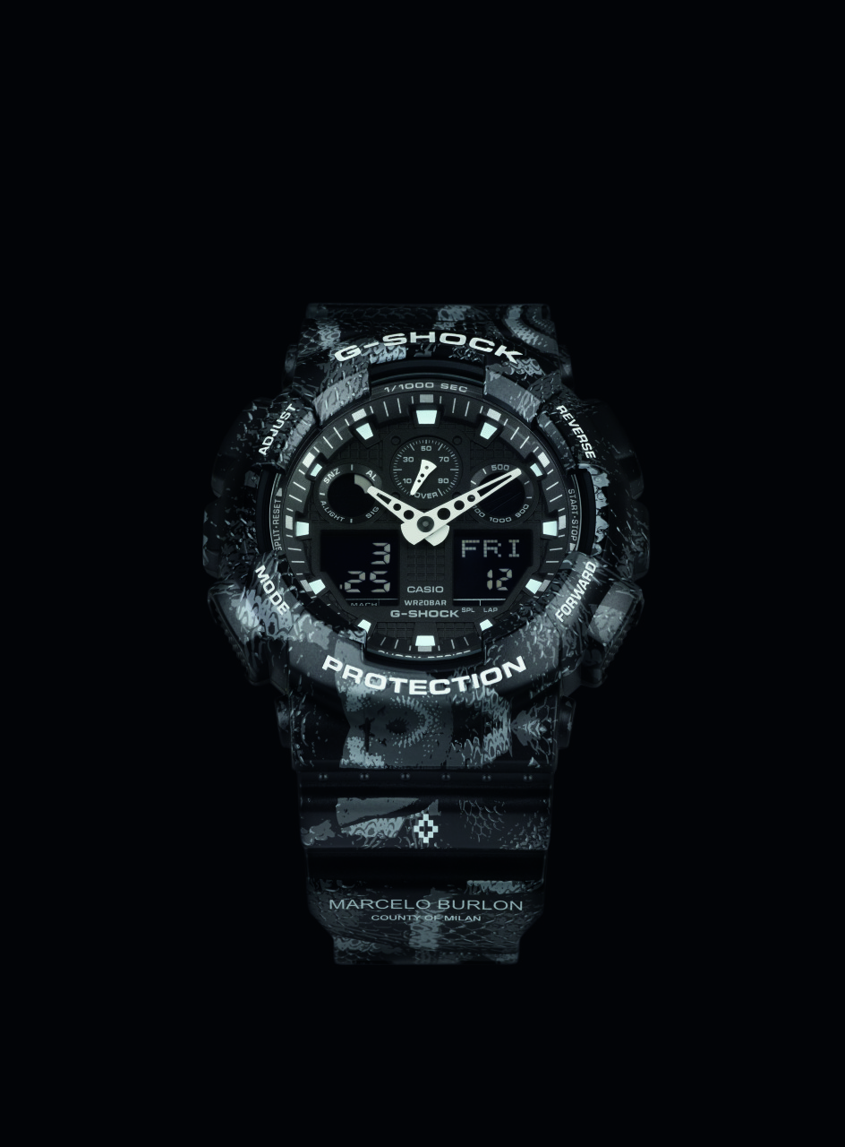 Nuovo G-SHOCK collaboration model con Marcelo Burlon County of Milan