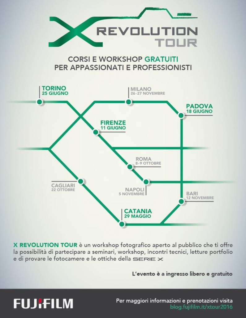 LOCANDINA X REVOLUTION TOUR 2 795x1024 - Fujifilm X Revolution Tour: tutte le informazioni e le date