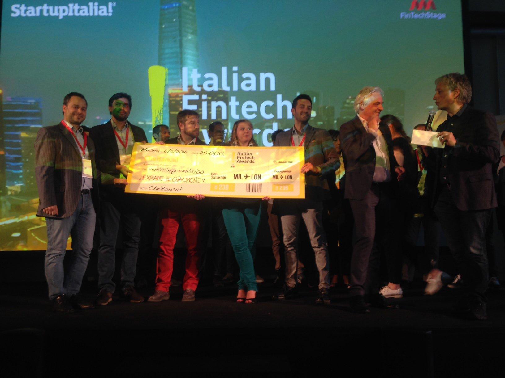 Italian Fintech Awards: vincono OvalMoney e Trakti