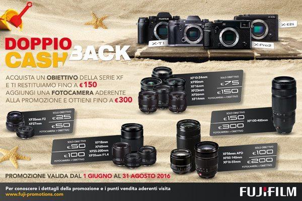 Nuovo Cash Back Estate di Fujifilm: punta alle ottiche