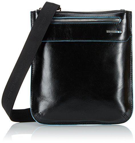 piquadro ca1358b2 borsello collezione blu square nero - Prodotti Piquadro a prezzi da Outlet su Amazon scontati fino al 70%