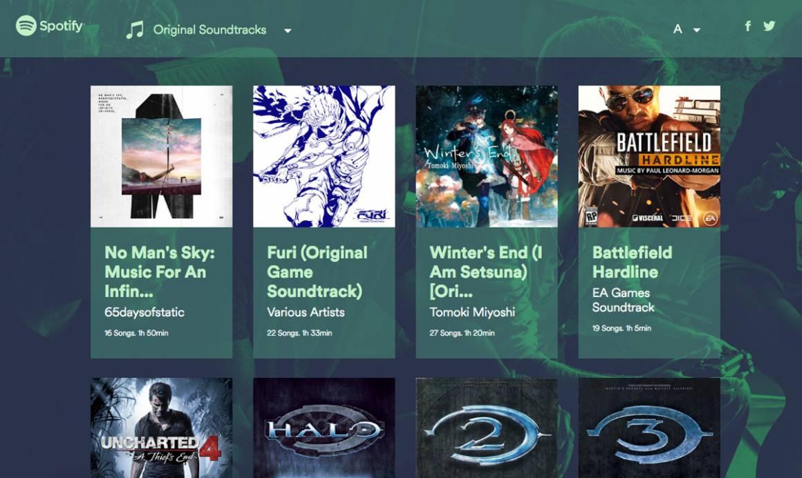 spotify gaming 1160x692 - Ascoltare le colonne sonore dei videogiochi con le playlist di Spotify