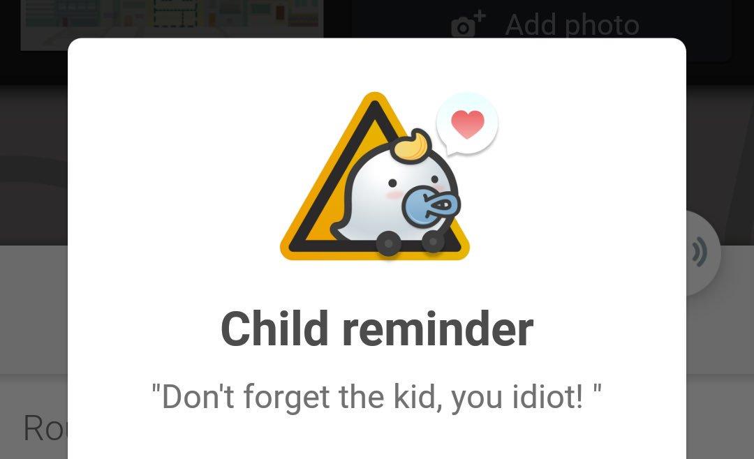 Non dimenticare il bambino in auto con Waze