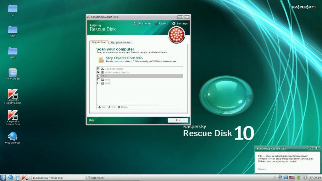 2013 03 26 19 16 41 1024x576 - Come ripulire il proprio PC dai malware tramite chiavetta USB