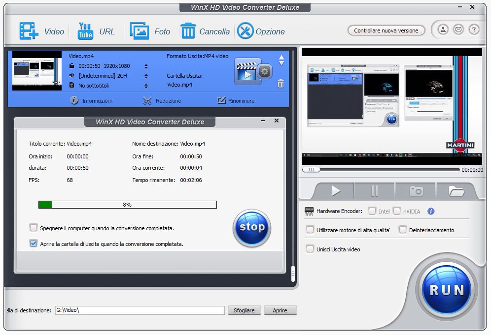 WinX HD Conversione - Convertire qualsiasi video con WinX HD Video Converter Deluxe