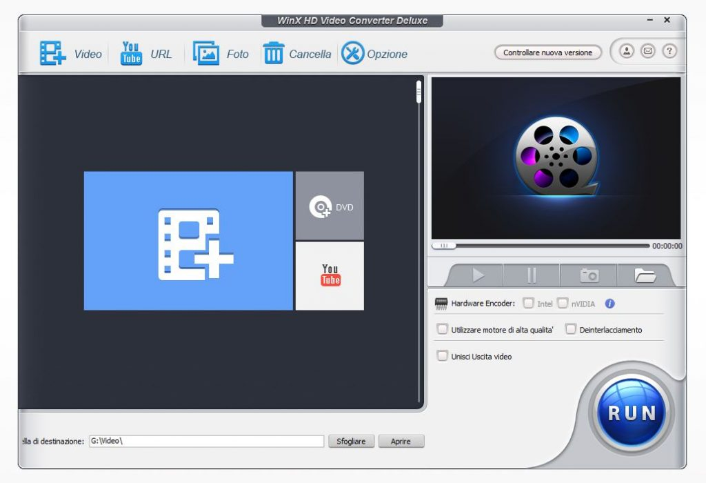 WinX User Interface 1024x700 - Convertire qualsiasi video con WinX HD Video Converter Deluxe