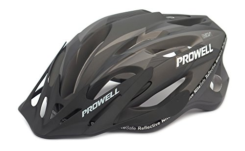 prowell f59 casco da bicicletta matt nero large include luce sharkfin - Viaggiare sicuri in bicicletta indossando il migliore casco bici per tutta la famiglia