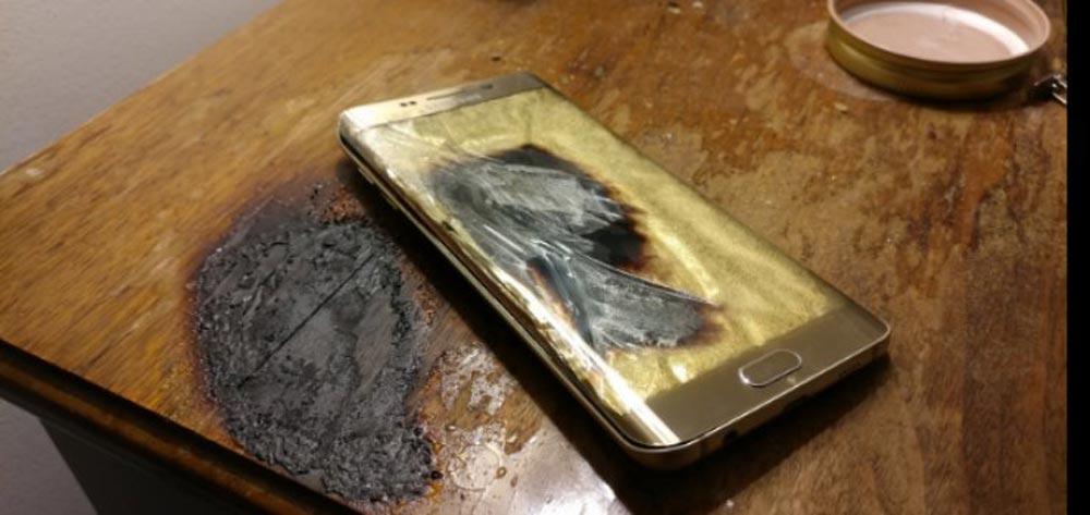 Samsung Galaxy S6 Edge esploso - Un altro Samsung Galaxy esplosivo
