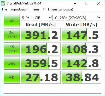 d2 - Verificare le performance e la velocità del nostro SSD