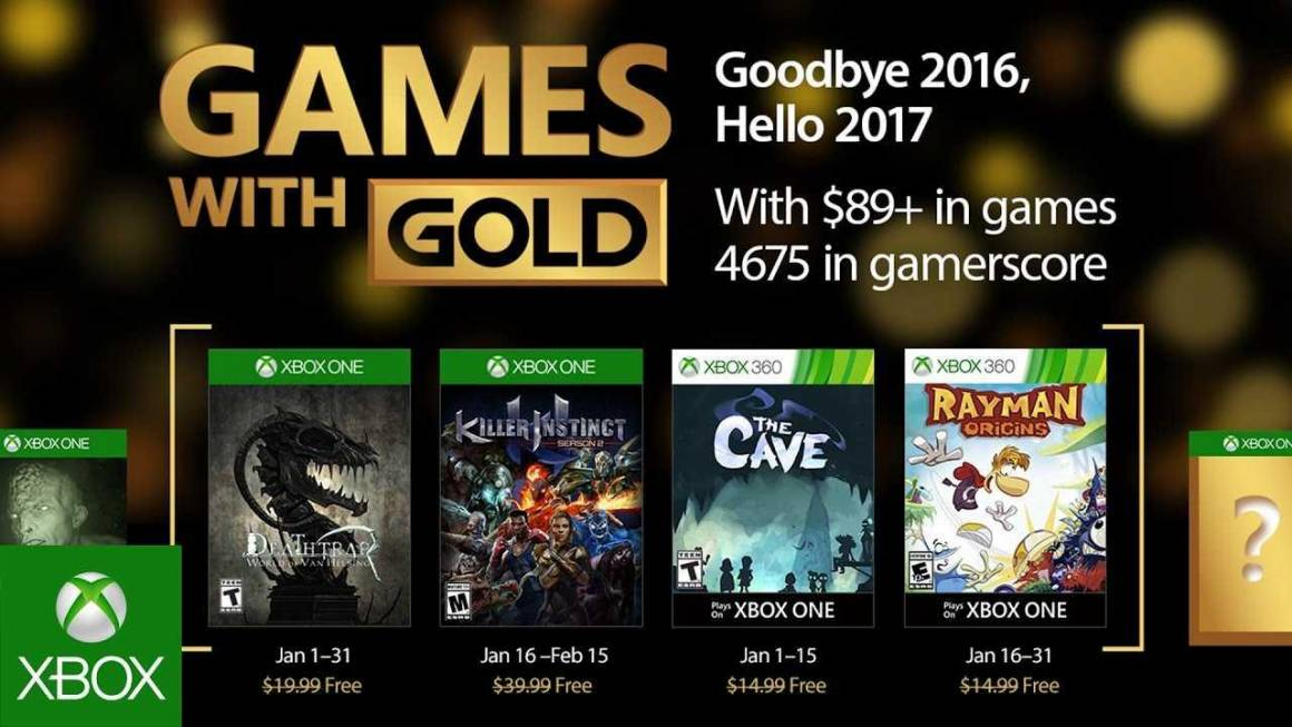 games with gold gennaio 1160x653 - Games with Gold di Gennaio per Xbox One e Xbox 360