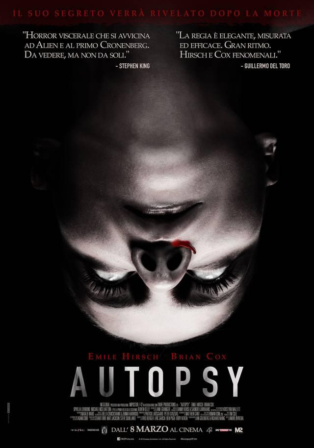 Autopsy Poster Italia 01 mid - Autopsy - Poster italiano per l'horror con Brian Cox e Emile Hirsch