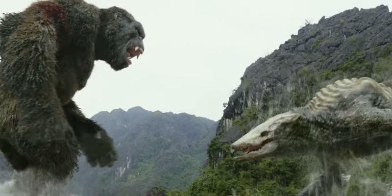 KONG SKULL ISLAND 02 - È scontro fra mostri in una nuova clip di Kong: Skull Island