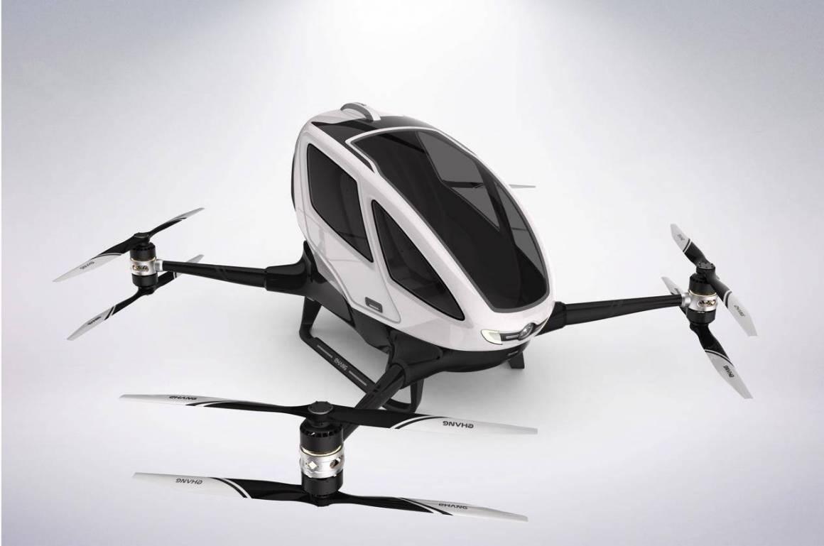 ehang 184 1160x769 - EHang 184, il taxi drone è già una realtà a Dubai. Da luglio nei cieli della città