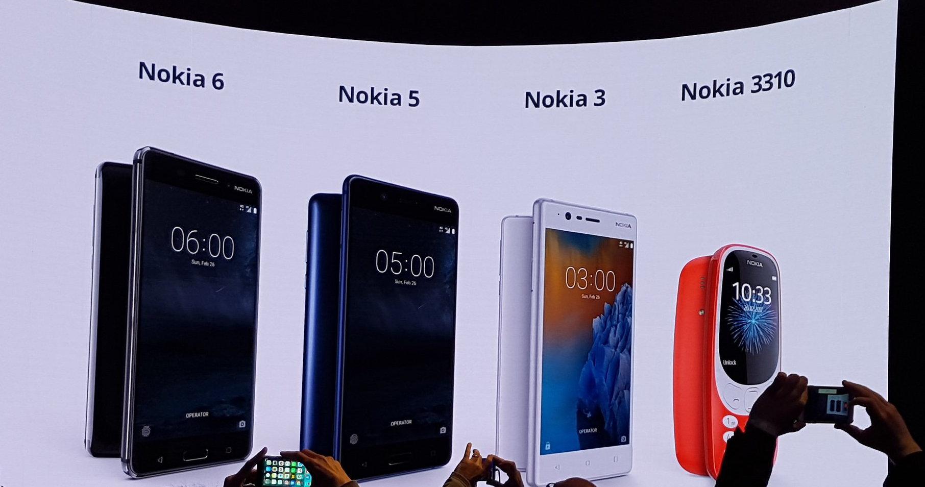 Nokia 3310 3 5 6 - Nokia a gonfie vele, tre nuovi smartphone per tutti i gusti