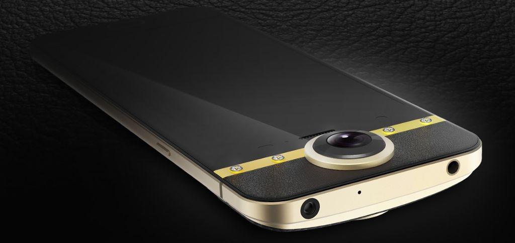Protruly Darling - Celluari da ricchi arriva Android Protruly Darling in pelle e diamanti con fotocamera a 360 gradi