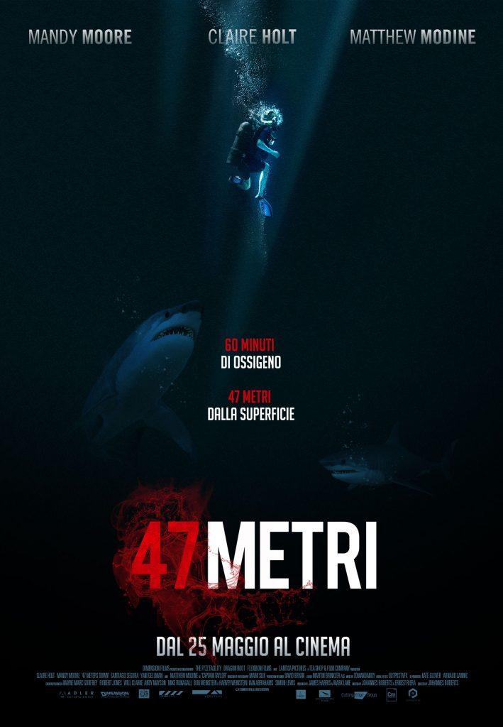 47 Metri Poster Italia 01 709x1024 - 47 METRI - Prime clip per il thriller ambientato sul fondo dell'oceano