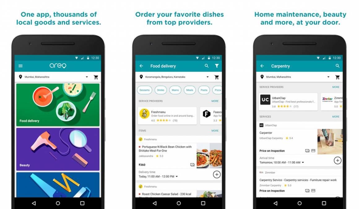 Google Areo 1160x675 - Google Areo ti porta il cibo a domicilio. Ma per ora solo in India