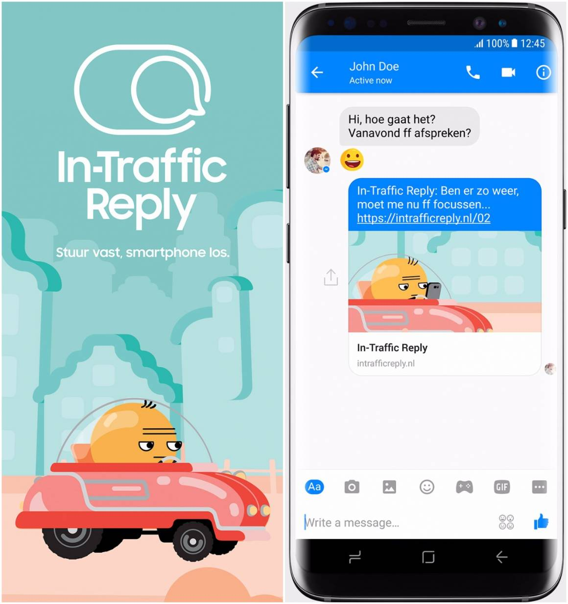In Traffic Reply 1160x1234 - Samsung contro le distrazioni, l'app In-Traffic Reply per rispondere ai messaggi alla guida