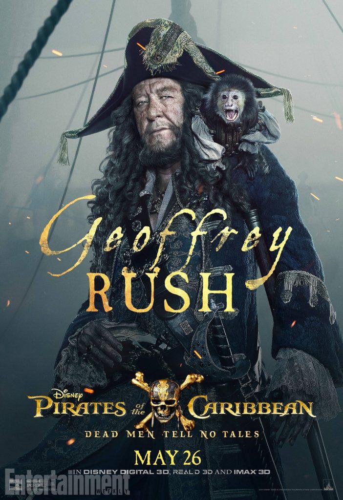 poc5 barbossa online v3 lg 702x1024 - I protagonisti di Pirati dei Caraibi: La vendetta di Salazar ritratti sui nuovi poster