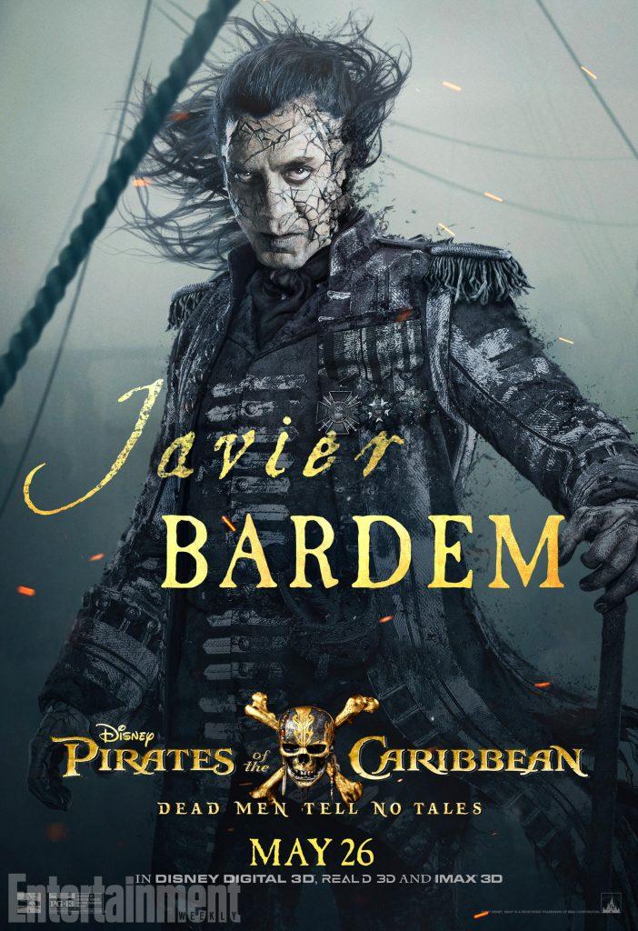 poc5 salazar online v3 lg 702x1024 - I protagonisti di Pirati dei Caraibi: La vendetta di Salazar ritratti sui nuovi poster