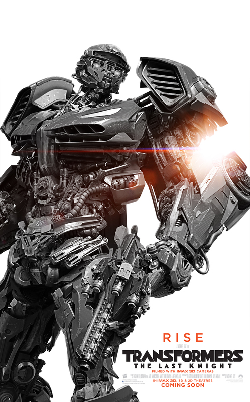 Transformers LUltimo Cavaliere Character Poster USA 04 - I protagonisti di Transformers: L'Ultimo Cavaliere ritratti sui nuovi poster