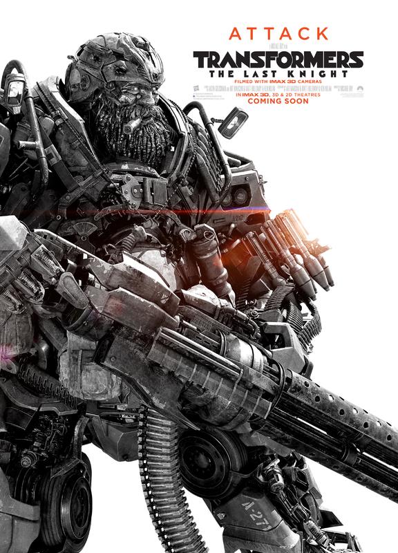 Transformers LUltimo Cavaliere Character Poster USA 05 - I protagonisti di Transformers: L'Ultimo Cavaliere ritratti sui nuovi poster