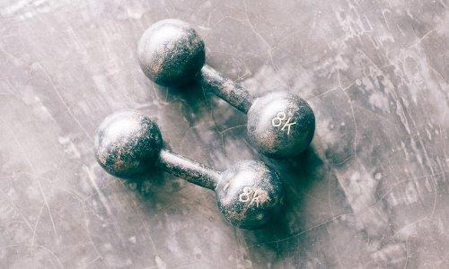 pesi allenamento in casa