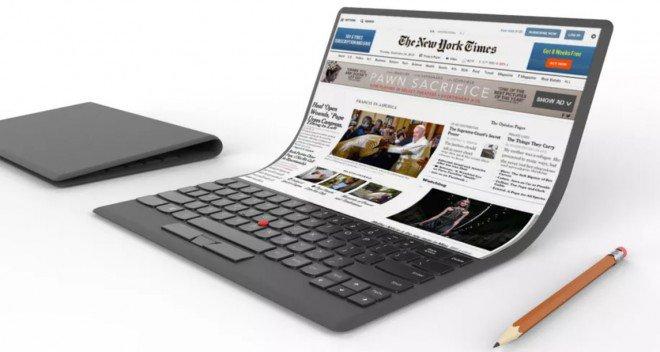 lenovo - Un notebook Lenovo con lo schermo pieghevole e touch