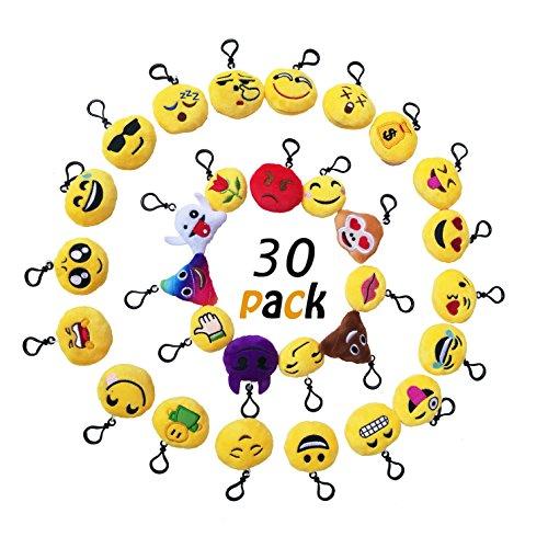 okaytec set ben 30 pezzi portachiavi emoji faccine portachiavi emoticon pi - Guarda i primi minuti di Emoji - Accendi le Emozioni