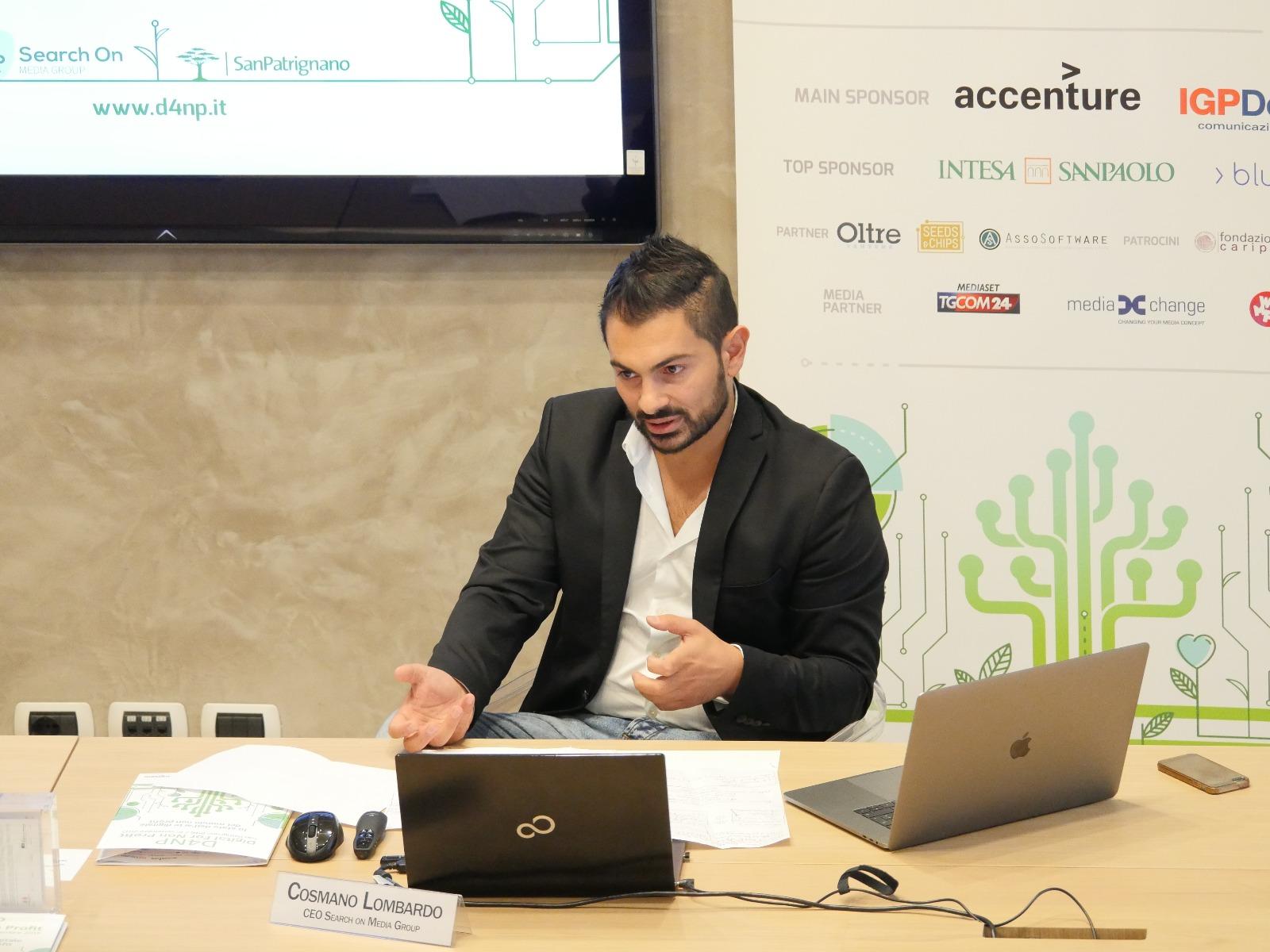 Cosmano Lombardo FounderCEO Search On Media Group e Ideatore D4NP - D4NP - Digital For Non Profit: appuntamento il 16 settembre per fare il punto sullo stato del digitale nel mondo non profit