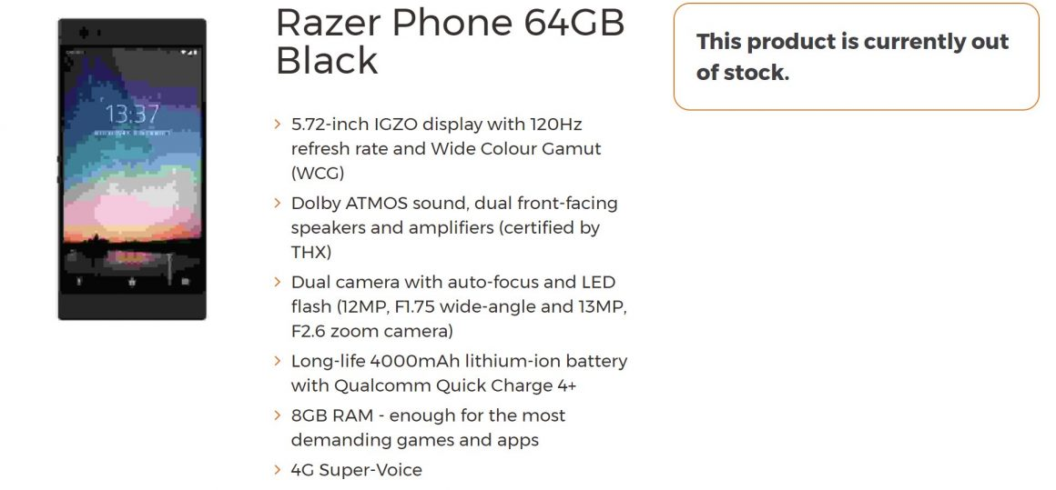 Razer Phone 1160x539 - Arriva Razer Phone, il design non conta. E' pensato per il game
