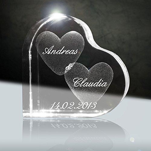cristallo ti amo cuore in vetro laser 3d da 58 mm con incisione il - Il cuore in 3D di Dassault Systèmes rivoluziona lo studio delle malattie cardiache e delle terapie personalizzate