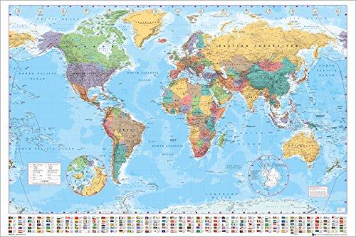 gb eye ltd mappa del mondo politico maxi poster 61 x 915 cm - Il poster ufficiale italiano de Lo Hobbit - La Battaglia delle Cinque Armate