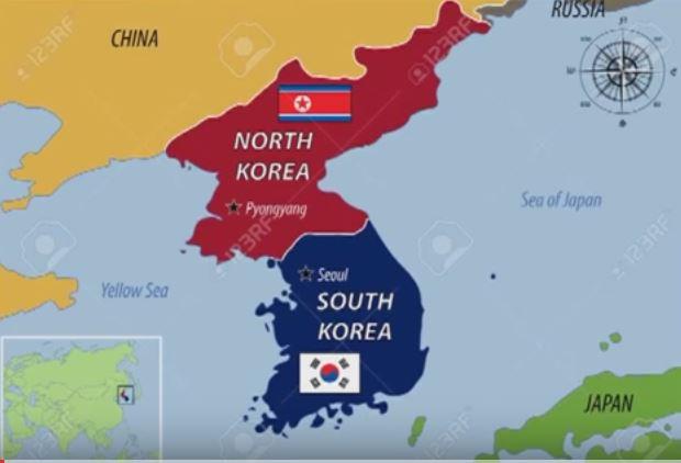 mappa corea - La Corea del Sud accusa quella del Nord di rubare bitcoin