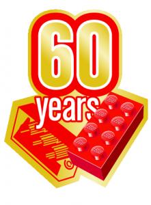 60YearsIcon Gold Final 221x300 - Il mattoncino LEGO compie sessantanni