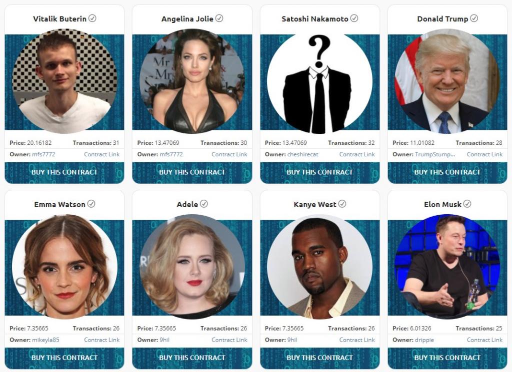 Con CryptoCelebrities puoi mettere sotto contratto politici e personaggi famosi - Con CryptoCelebrities puoi contrattualizzare celebrità politici e personaggi famosi