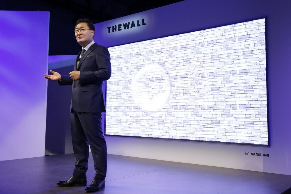 samsung wall - Samsung, novità dal Ces: dalla tv The Wall agli elettrodomestici connessi